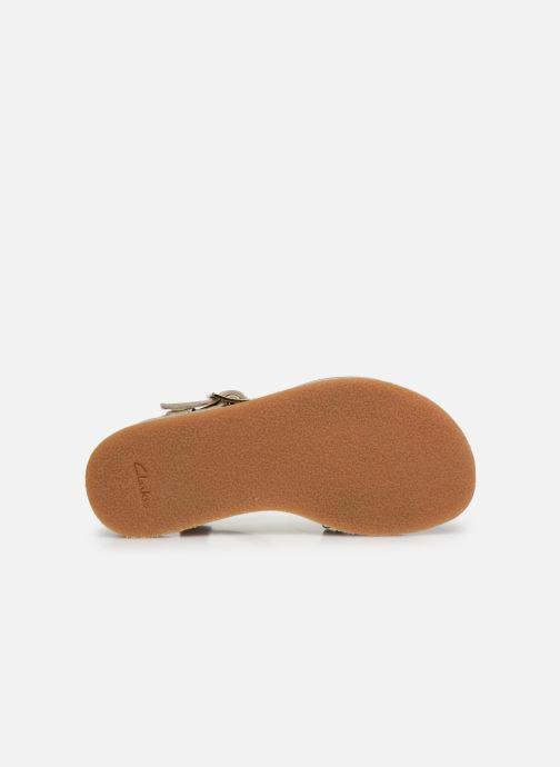 Sandales et nu-pieds Clarks Finch Stride K Argent vue haut
