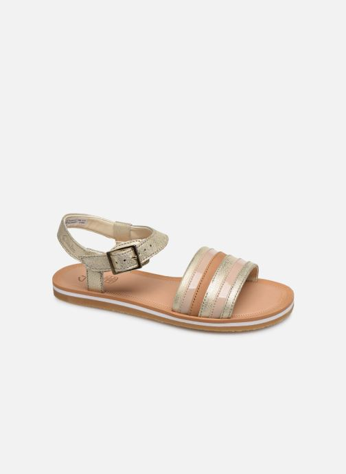 Sandals Clarks Finch Stride K Silver detailed view/ Pair view