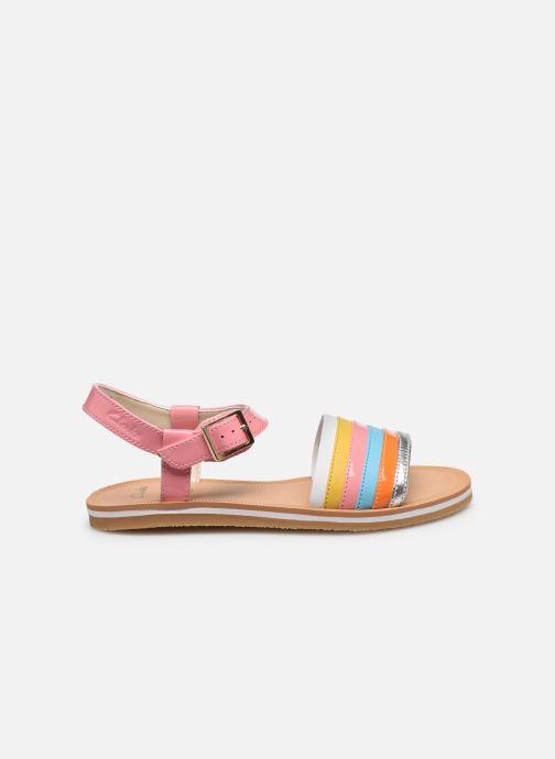 Sandales et nu-pieds Clarks Finch Stride K Rose vue derrière
