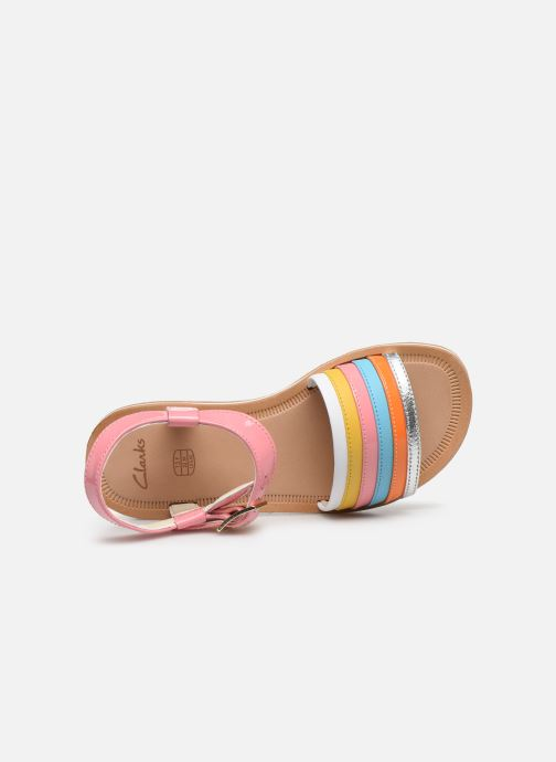 Sandales et nu-pieds Clarks Finch Stride K Rose vue gauche
