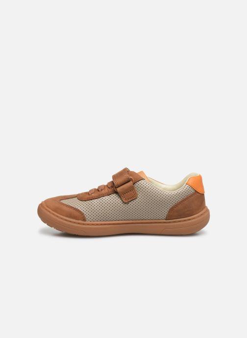 Sneakers Clarks Flash Step K Brun se forfra