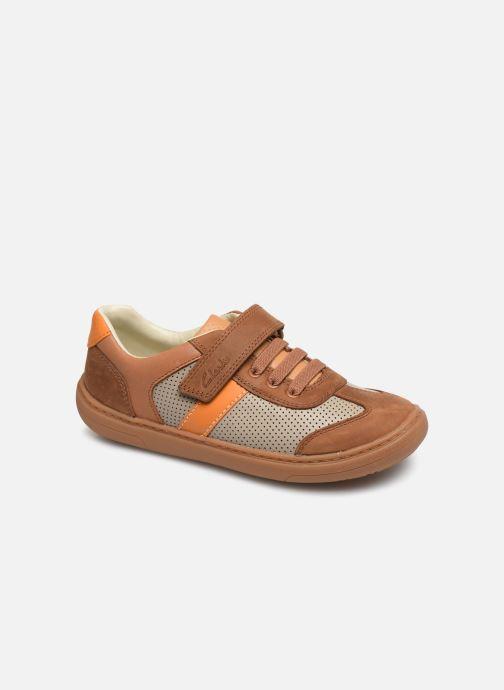 Sneakers Clarks Flash Step K Brun detaljeret billede af skoene