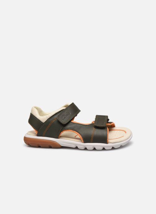 Sandales et nu-pieds Clarks Rocco Wave K Vert vue derrière