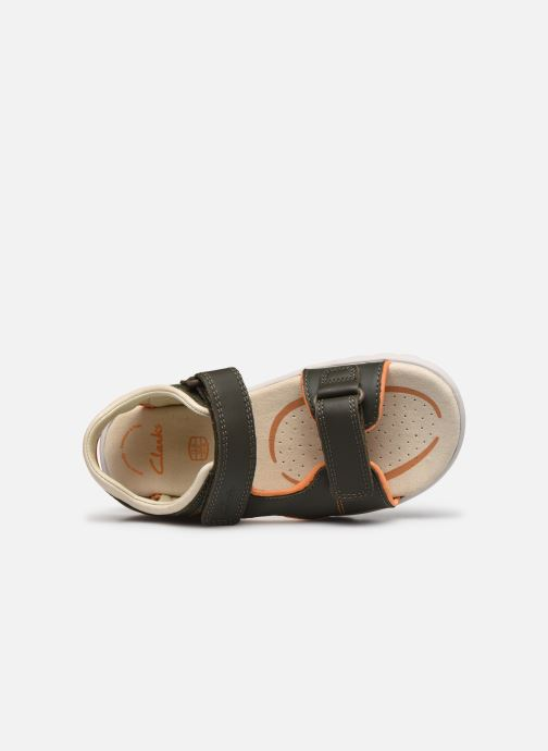 Sandales et nu-pieds Clarks Rocco Wave K Vert vue gauche
