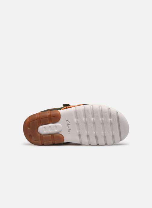 Sandales et nu-pieds Clarks Rocco Wave K Vert vue haut