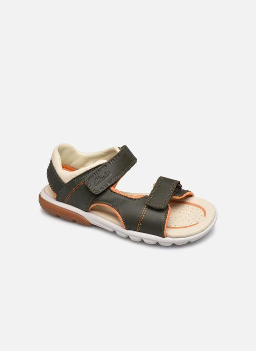 Sandales et nu-pieds Clarks Rocco Wave K Vert vue détail/paire