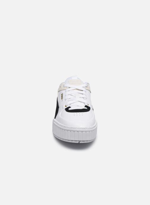 Baskets Puma Cali Sport Heritage Wn's Blanc vue portées chaussures