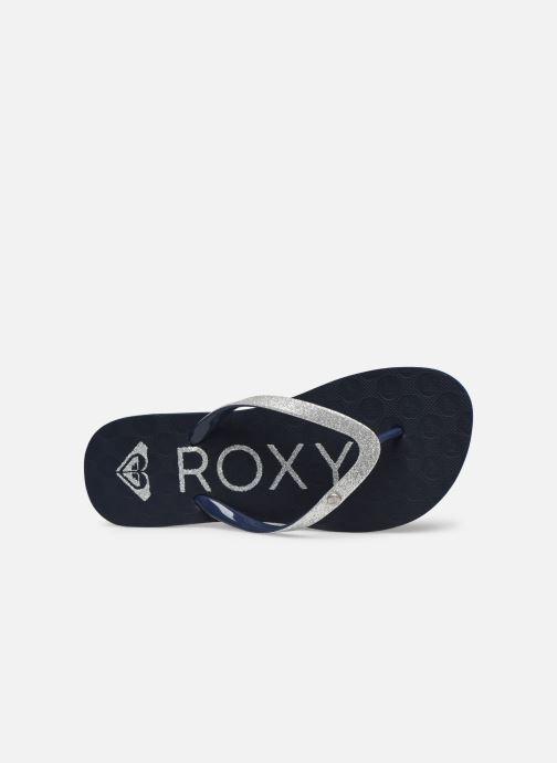 Chanclas Roxy RG Viva Glitter III Azul vista lateral izquierda