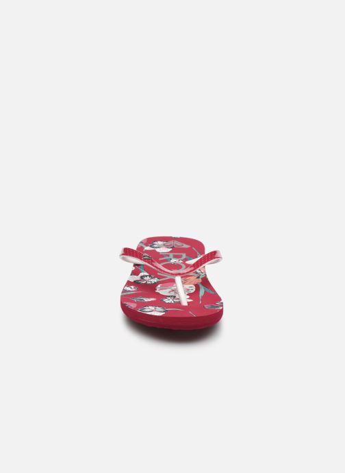 Chanclas Roxy RG Pebbles VII Rojo vista del modelo