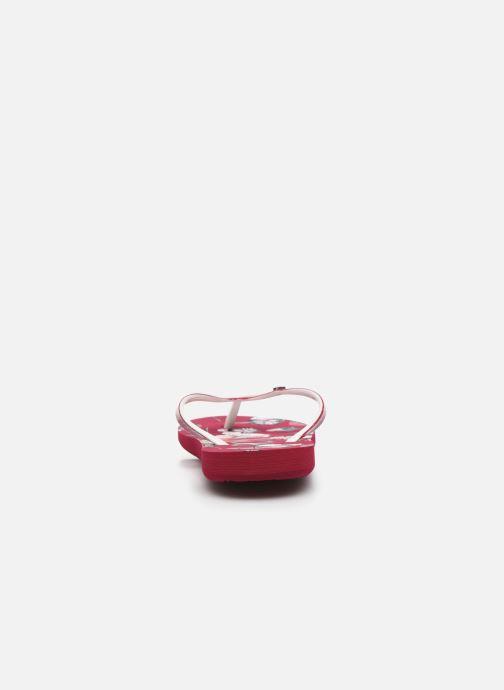 Chanclas Roxy RG Pebbles VII Rojo vista lateral derecha