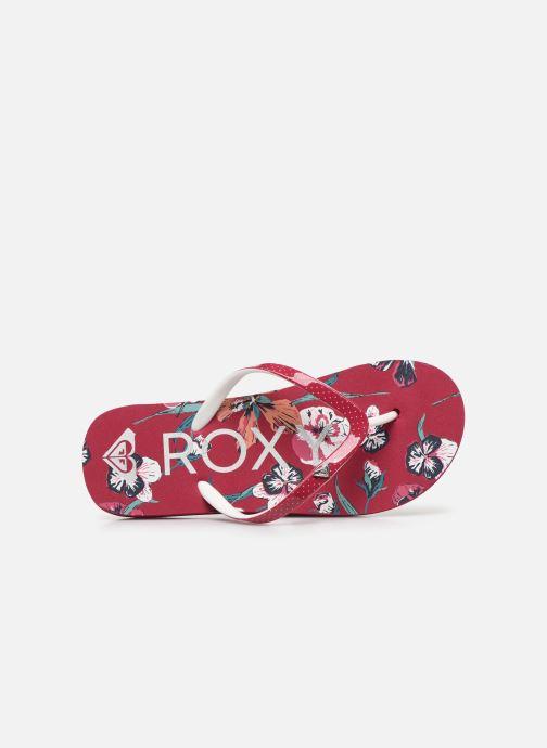 Chanclas Roxy RG Pebbles VII Rojo vista lateral izquierda
