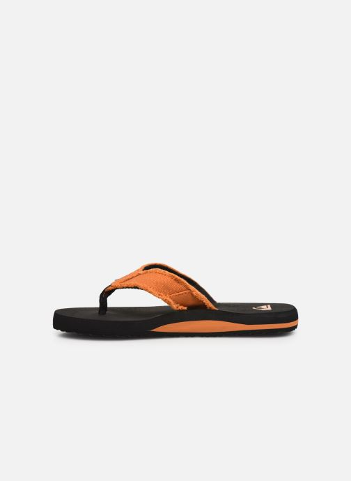 Tongs Quiksilver Monkey Abyss Youth Noir vue face