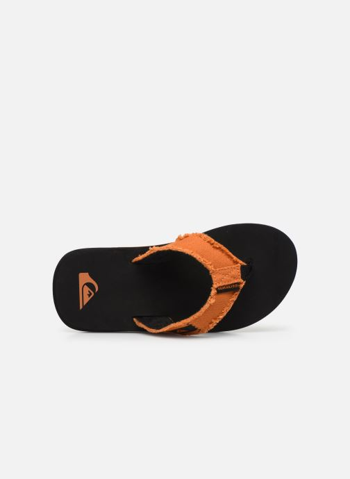 Tongs Quiksilver Monkey Abyss Youth Noir vue gauche