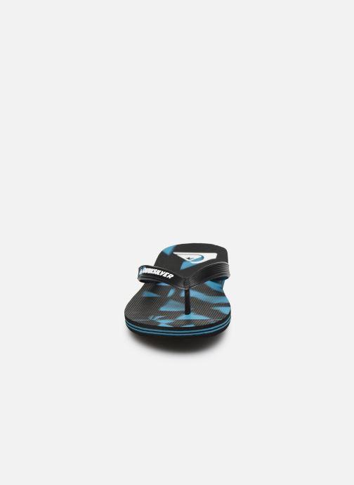 Tongs Quiksilver Molokai Dye Check Youth Noir vue portées chaussures