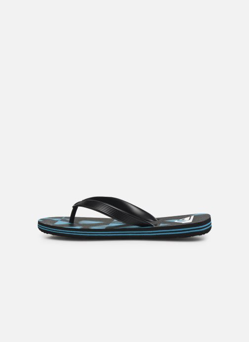 Tongs Quiksilver Molokai Dye Check Youth Noir vue face