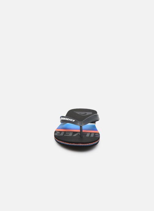 Tongs Quiksilver Molokai Slab Youth Noir vue portées chaussures