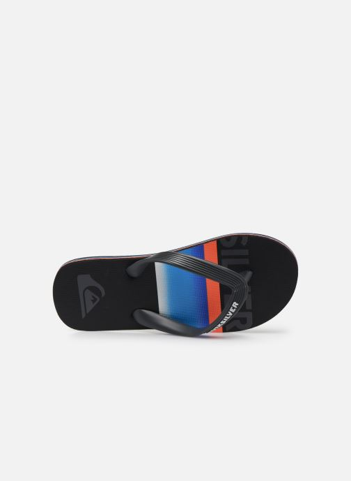 Slippers Quiksilver Molokai Slab Youth Zwart links