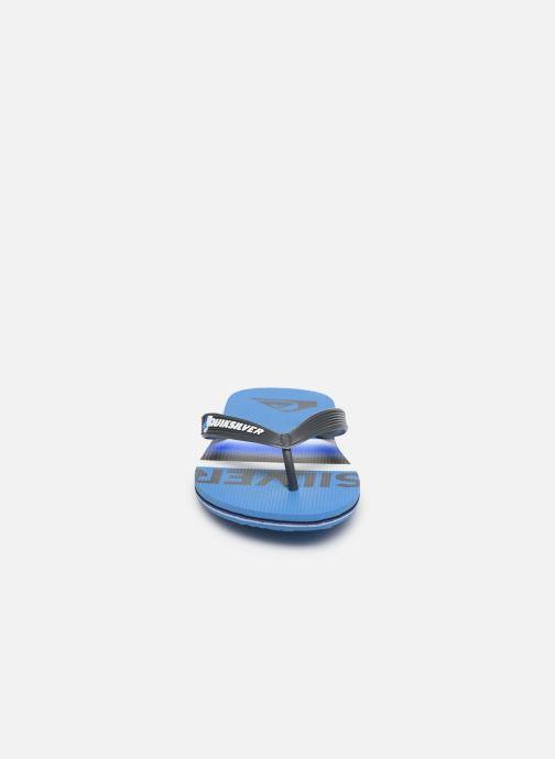 Tongs Quiksilver Molokai Slab Youth Bleu vue portées chaussures