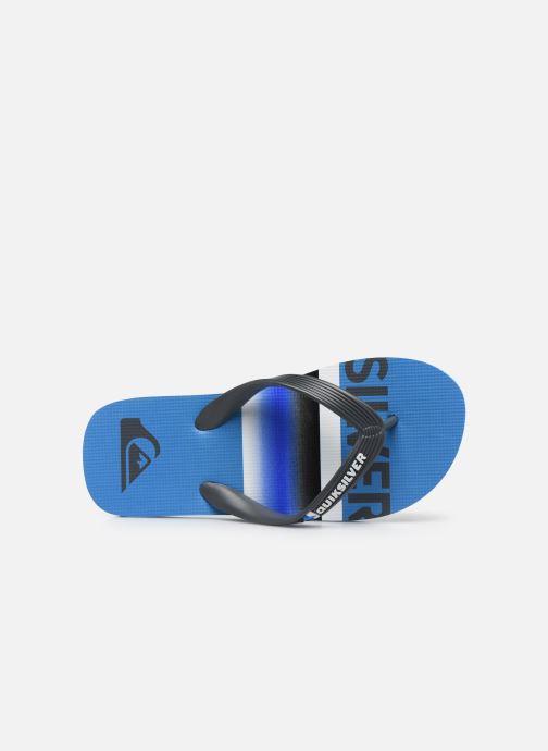 Tongs Quiksilver Molokai Slab Youth Bleu vue gauche