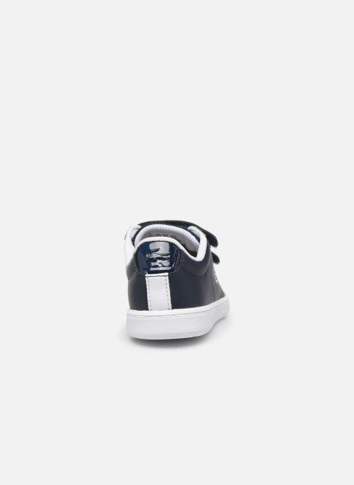 Baskets Lacoste Carnaby Evo Strap1201 Bleu vue droite