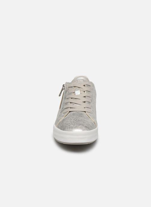 Baskets Geox D BLOMIEE Argent vue portées chaussures