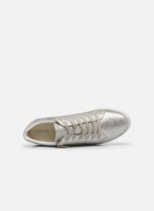 Sneakers Geox D BLOMIEE Argento immagine sinistra