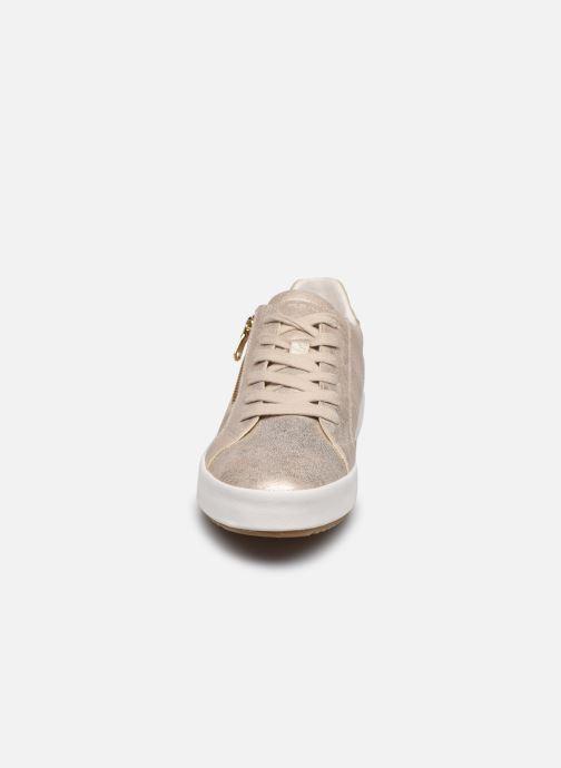 Baskets Geox D BLOMIEE Or et bronze vue portées chaussures