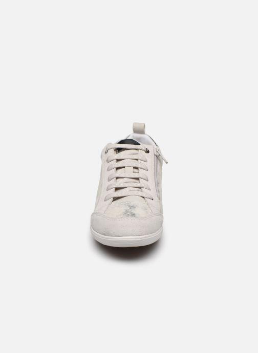 Baskets Geox D MYRIA D0268A Argent vue portées chaussures