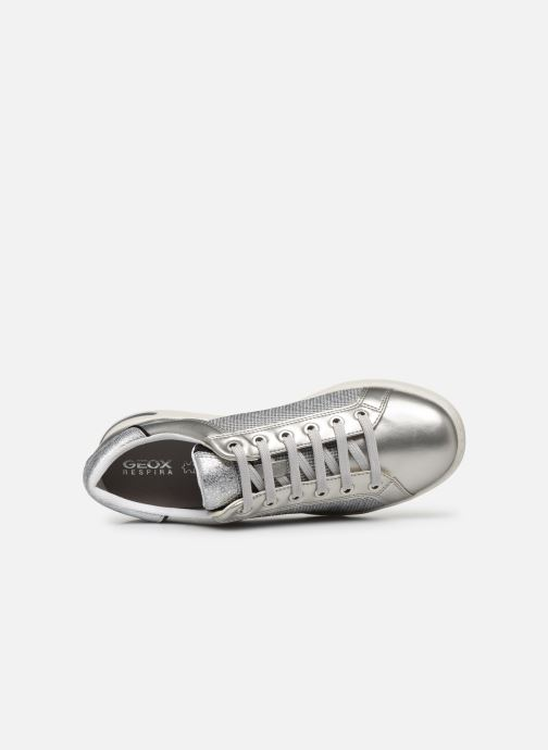 Trainers Geox D JAYSEN D021BD Silver view from the left