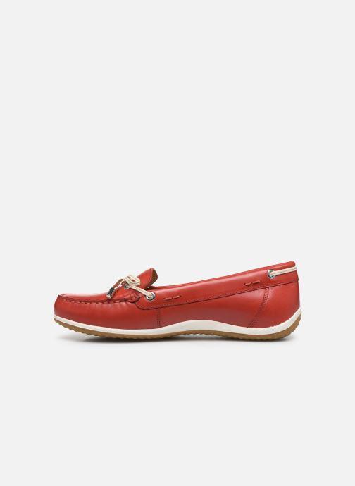 Chaussures à lacets Geox D VEGA MOC Rouge vue face