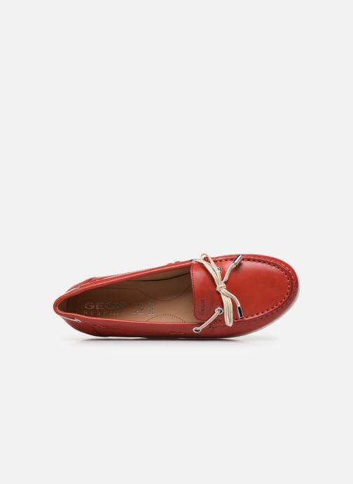 Chaussures à lacets Geox D VEGA MOC Rouge vue gauche