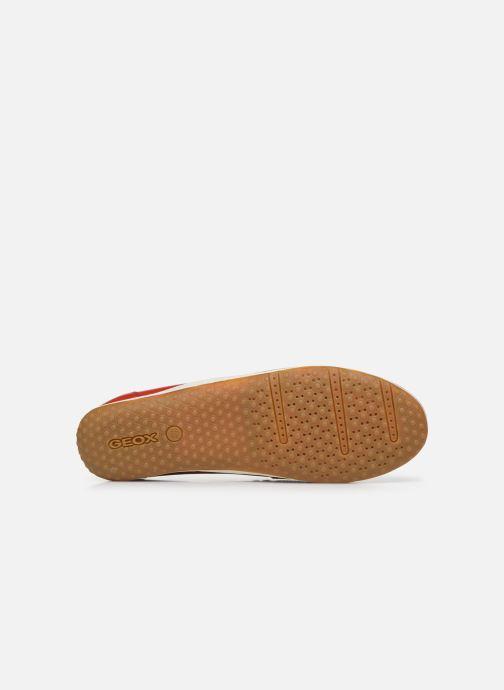 Chaussures à lacets Geox D VEGA MOC Rouge vue haut
