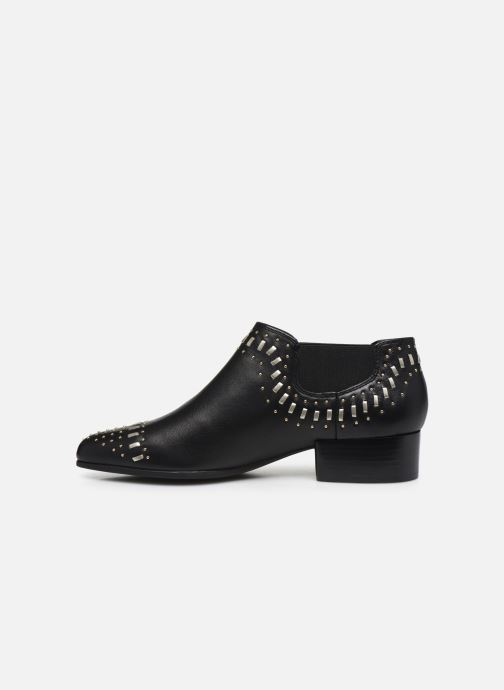Ankle boots Geox D PEYTHON LOW C Black front view