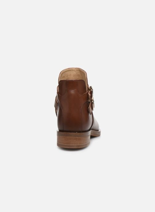 Bottines et boots Geox D BROGUE S Marron vue droite