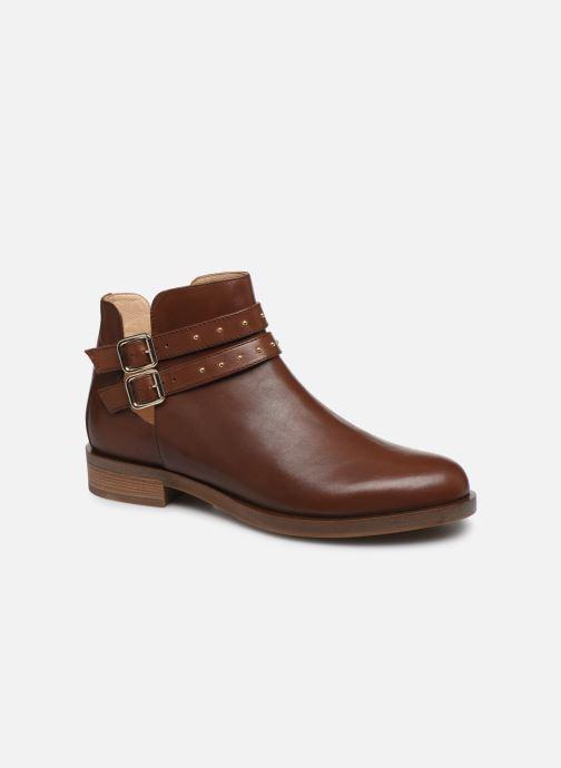 Bottines et boots Geox D BROGUE S Marron vue détail/paire