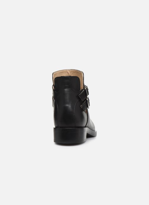 Ankle boots Geox D BROGUE S Black view from the right