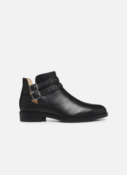 Ankle boots Geox D BROGUE S Black back view