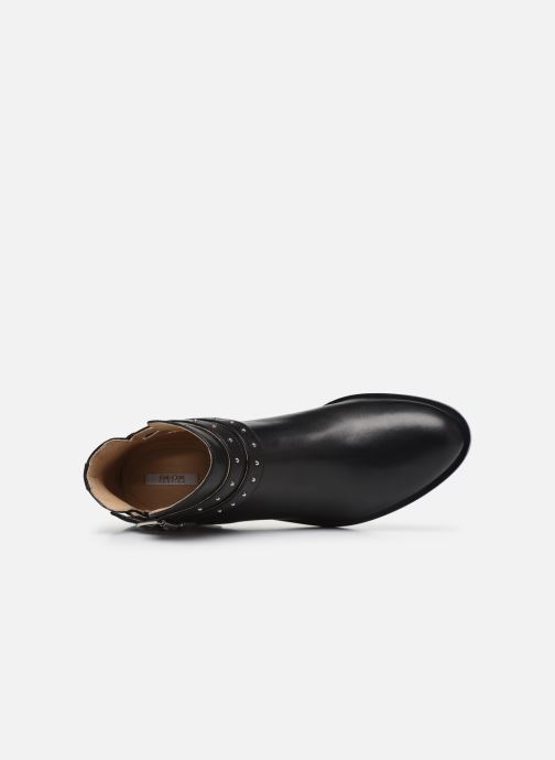 Ankle boots Geox D BROGUE S Black view from the left