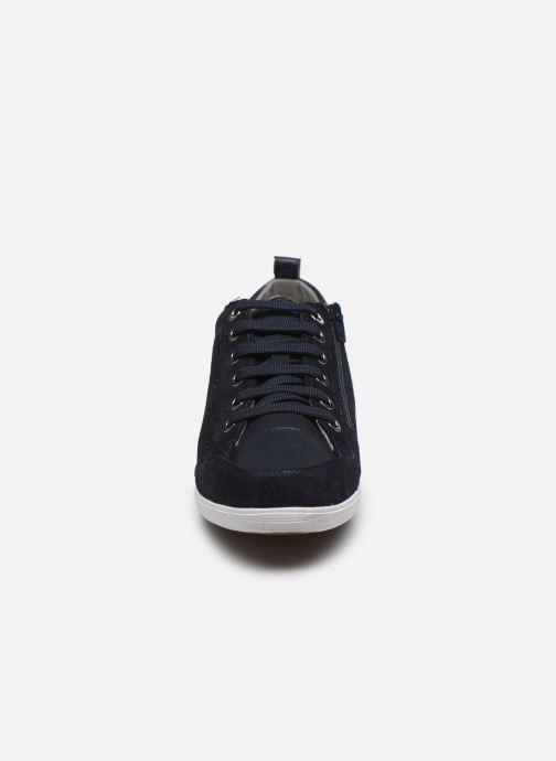 Baskets Geox D MYRIA D0268D Bleu vue portées chaussures