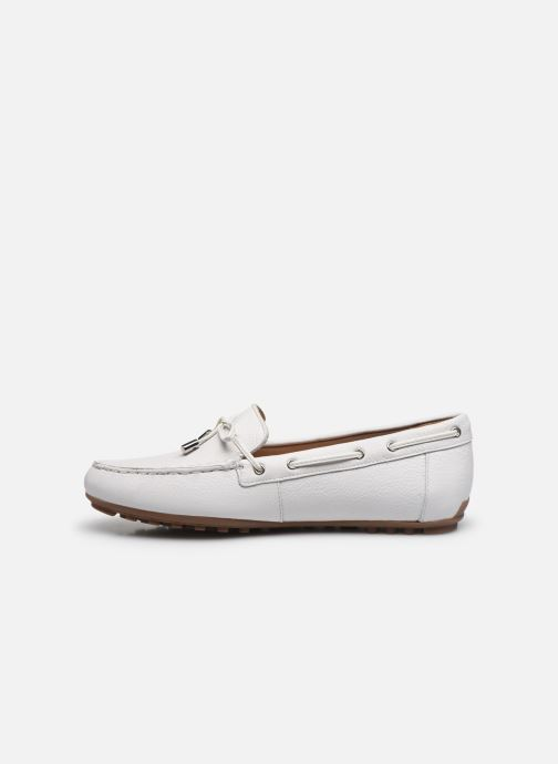 Chaussures à lacets Geox D LEELYAN D724RA Blanc vue face