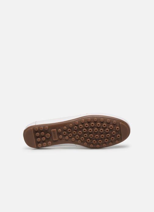 Chaussures à lacets Geox D LEELYAN D724RA Blanc vue haut