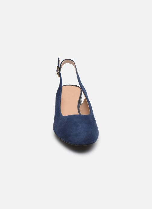 Escarpins Geox D ORTENSIA MID D02GH Bleu vue portées chaussures