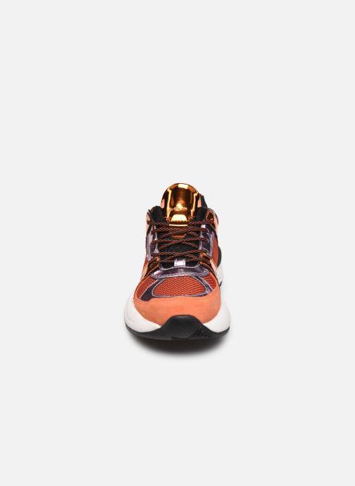 Baskets Geox D TOPAZIO D02GDA Orange vue portées chaussures