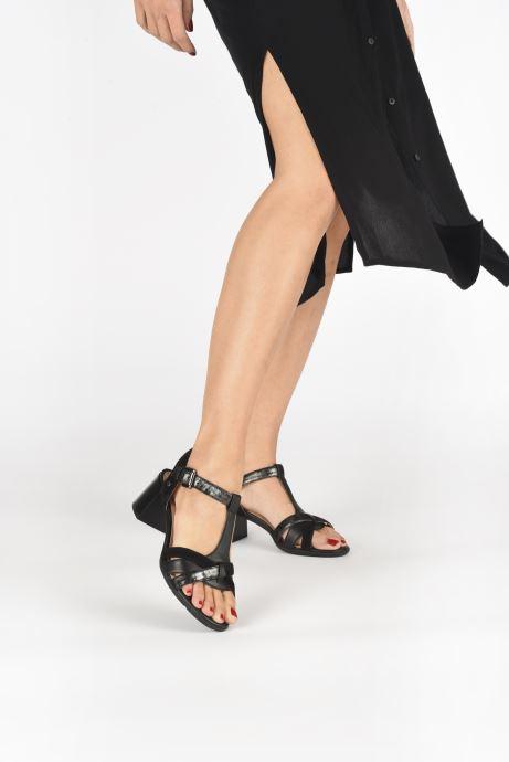 Sandalen Geox D MARYKARMEN MID SAN D02CWE schwarz ansicht von unten / tasche getragen
