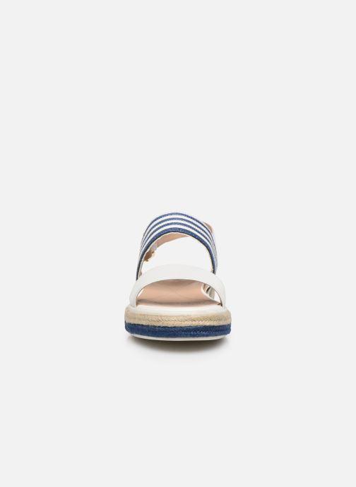 Sandales et nu-pieds Geox D SANDAL LEELU' D02GFE Blanc vue portées chaussures