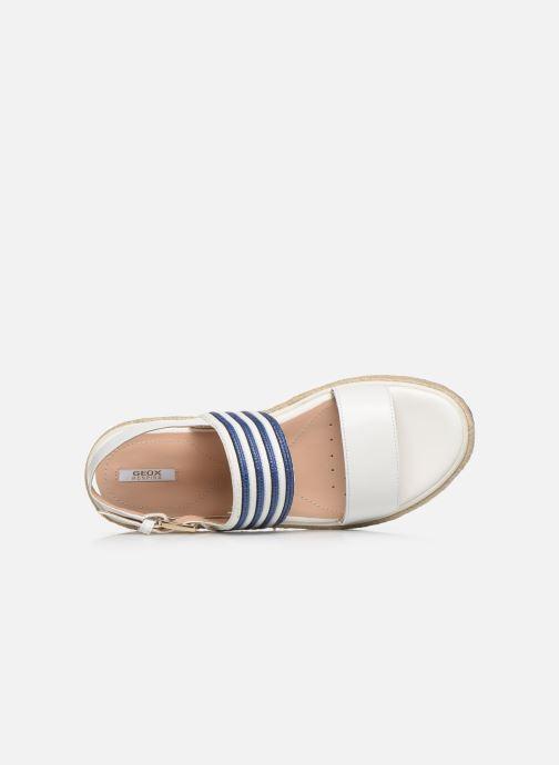 Sandales et nu-pieds Geox D SANDAL LEELU' D02GFE Blanc vue gauche