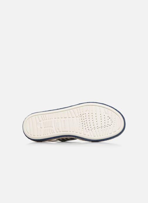 Sandales et nu-pieds Geox D SANDAL LEELU' D02GFE Blanc vue haut
