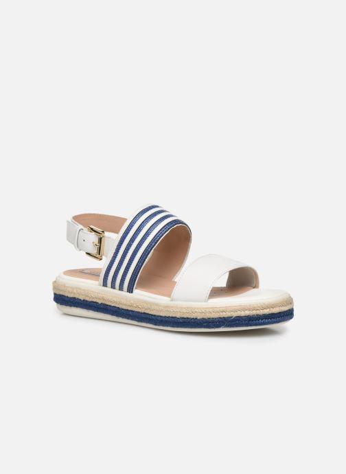 Sandales et nu-pieds Geox D SANDAL LEELU' D02GFE Blanc vue détail/paire
