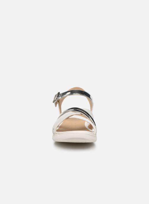 Sandales et nu-pieds Geox D SANDAL HIVER D02GZA Argent vue portées chaussures