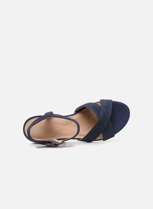 Sandales et nu-pieds Geox D ISCHIA CORDA D02HHC Bleu vue gauche